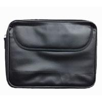 "15.6"" PU-Leather Laptop Bag with Shoulder Strap Black"