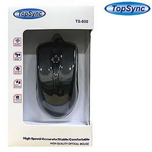 TopSync TS800 USB Opticla Mouse Black