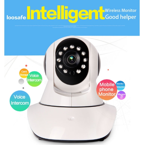 720P HD ROBOT IP WIFI CAMERA PAN TILT DAY/NIGHT 2 WAY AUDIO
