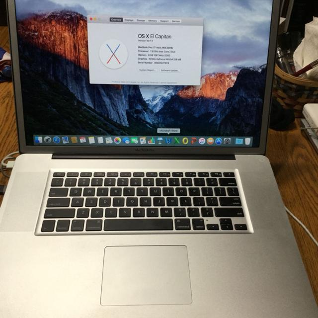 "13.3"" Apple MacBook Pro 2009 Intel C2D 2.53G 4G 320G OSX 10.11"