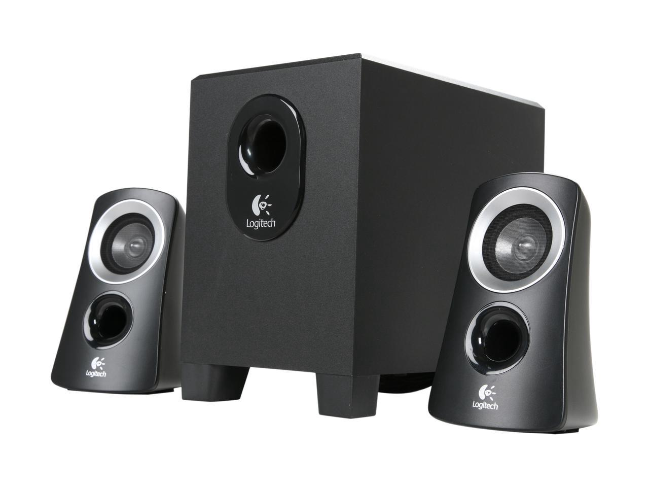 Logitech Z313 25W 2.1 Speaker System (Recertified, Brown Box)