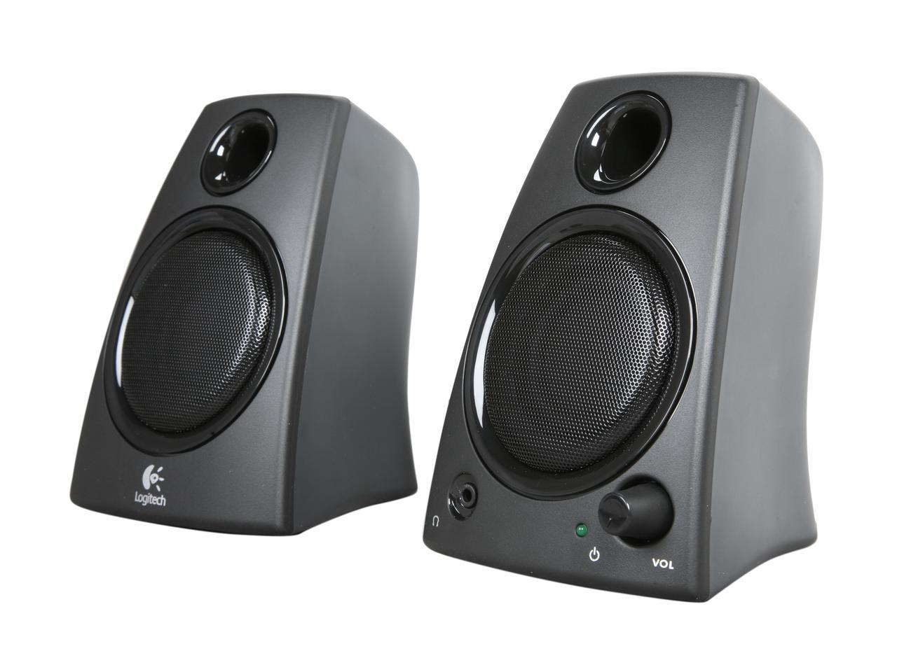 Logitech Z130 5W 2.0 Speaker System (Recertified, Brown Box)