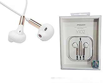 PISEN Y102 Semi-In-Ear Wired Headset with Mic for Cell Phones