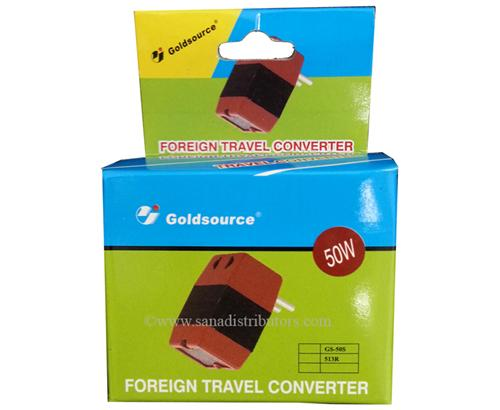 Goldsource 50W Foreign Travel Voltage Converter 220V to 110V