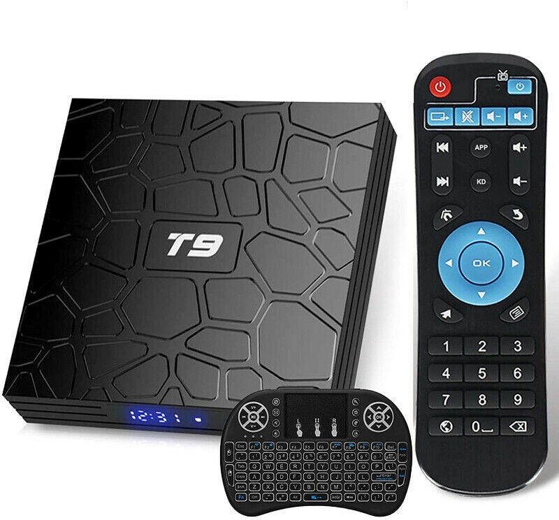 T9 Android 9.0 TV Box with Mini Keyboard 4GB RAM 32GB ROM RK3318
