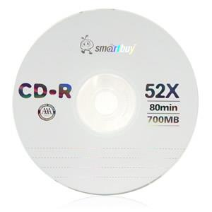 Smartbuy 50-disc 700mb/80min 52x CD-R Blank Data Record Disc.