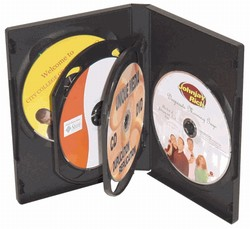 DVD Movie Case (Hold 6 CD/DVD) Each