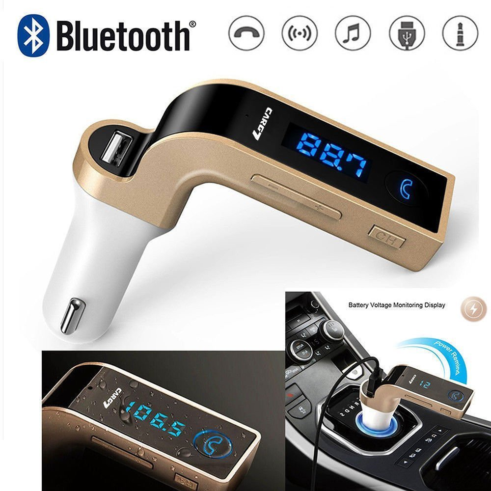 Car Bluetooth LED Charger FM Transmitter USB Handsfree Mobile
