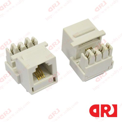 Cat3 RJ11 (Phone) 8P4C Modular Female Keystone