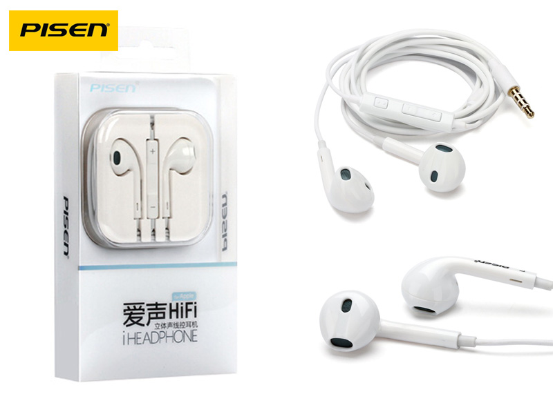 Pisen G203 3.5mm Jack HIFI Stereo Earphone with Mic & Volume