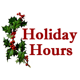 * Holiday Hours *