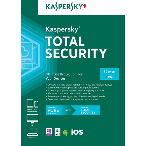 Kaspersky TOTAL SECURITY 1 Device, 1 Year PKC