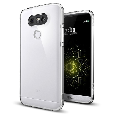 GOOSPERY Mercury Anti-Yellow Clear Jelly Case for LG G5 / H850