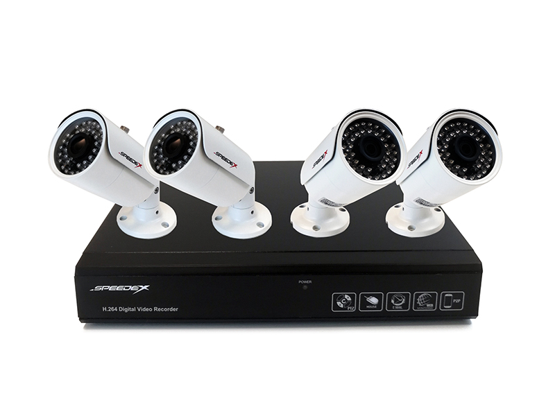 Used 8 CH 720P HD Surveillance Camera Kit with 4 Cameras