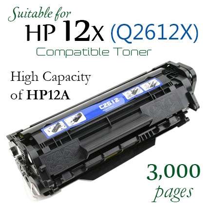 HP Q2612X High Yield Compatible New Laser Toner (HP 12X)