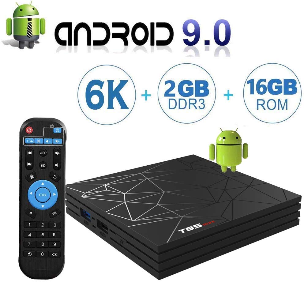 T95 Max TV Box H6 CPU 2GB Ram 16GB ROM Android 9 6K Wifi