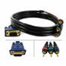 Component Video to DVI-I Cable 6'