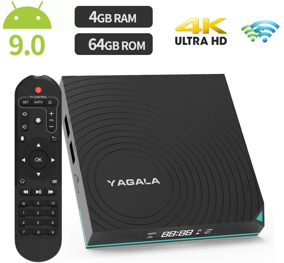 YAGALA Y1 TV Box RK3318 CPU 4GB Ram 64GB ROM Android 9 WIFI