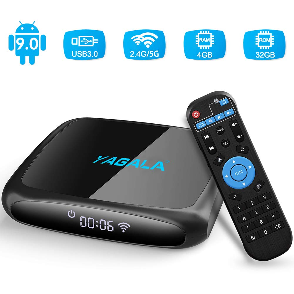 YAGALA V3 Quad Core 4GB + 32GB Dual Band Wifi Android 9.0 TV Box