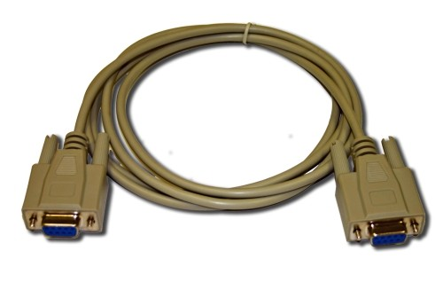 6' Serial Null Modem Cable 9 Pin F/F