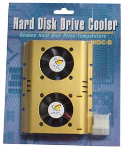 "3.5"" HDD Hard Disk Drive Cooler with Dual Fans"