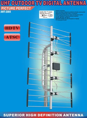 UHF Outdoor TV Digital Antenna ANT-2085 (HDTV, ATSC)