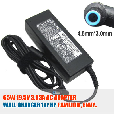 For HP 19.5V 3.33A (65W) 4.5mm X 3.0mm Power Adapter