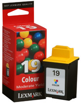 Lexmark #19 Moderate Use Color Print Cartridge 15M2619
