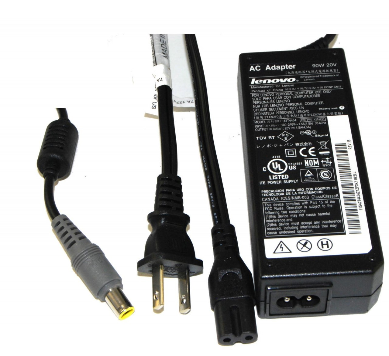 For Lenovo / IBM 20V 4.5A (90W) 7.4mm X 5.0mm Power Adapter