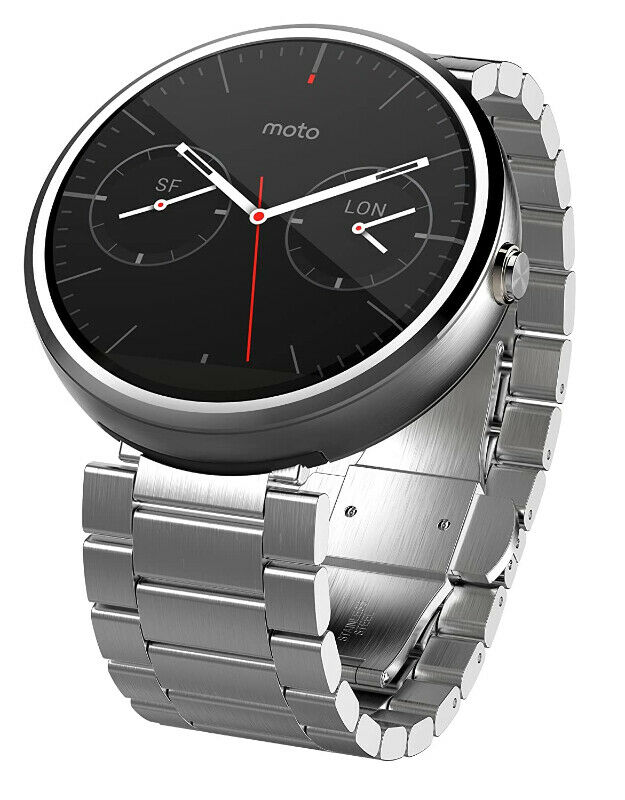 Motorola Moto 360 Light Metal 23mm Band Smart Watch